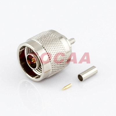 N Straight Plug Crimp For RG-174U