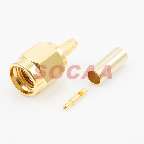 SMA STRAIGHT PLUG CRIMP FOR RG-174U CABLE