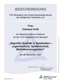 Teilnahmebescheinigung - Vanessa Kulik_S