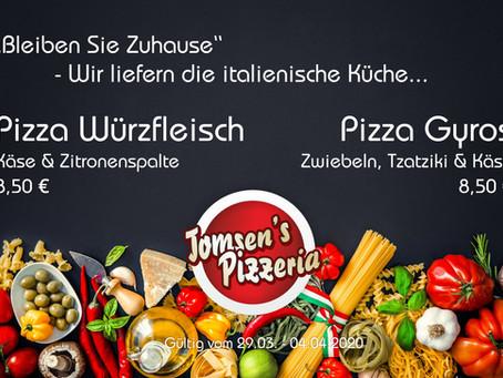 Bleiben Sie zu Hause – Wir bringen Ihnen die italienische Küche...