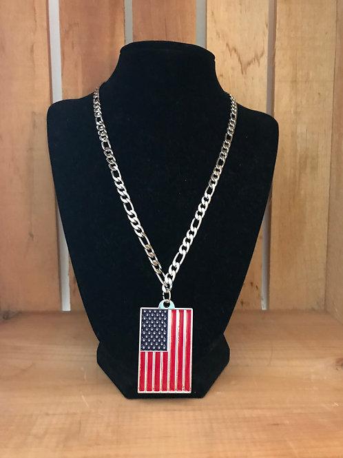 Men's American Flag Necklace