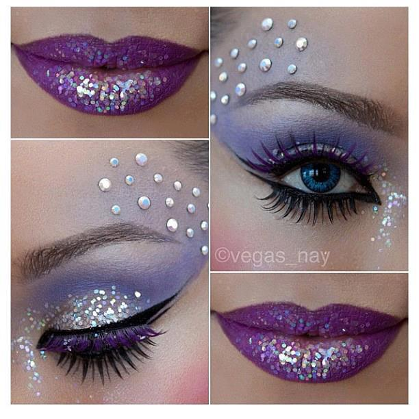 Purple & Silver Lips & Eyes