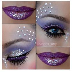 Purple & Silver Lips & Eyes