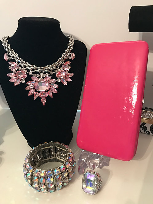 Hot Pink Glam Wallet