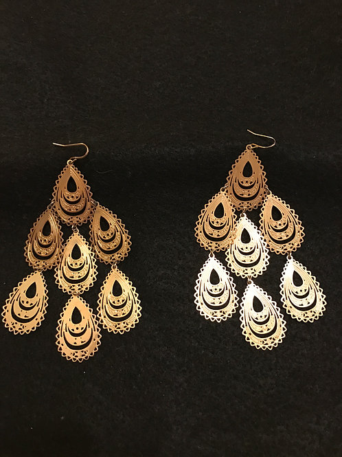 Gold Boho Dangle Earrings