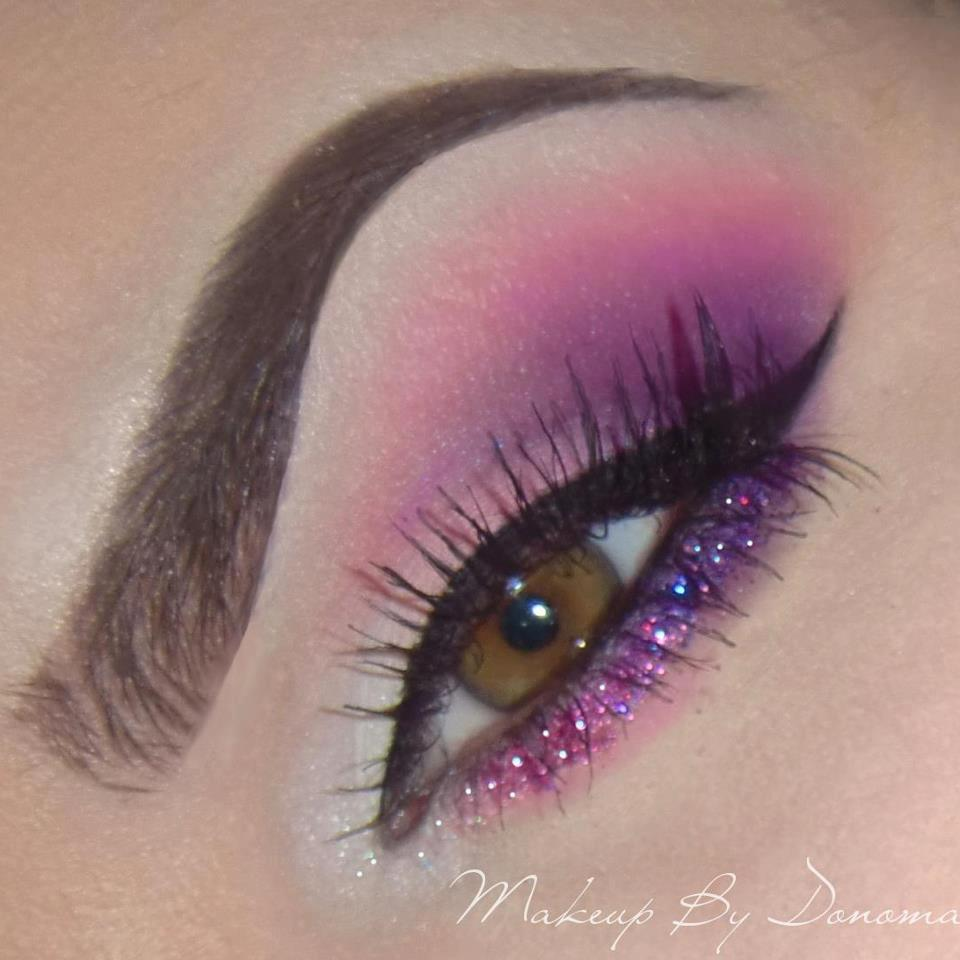 Gorgeous Purple/Pink Glitter Eyes