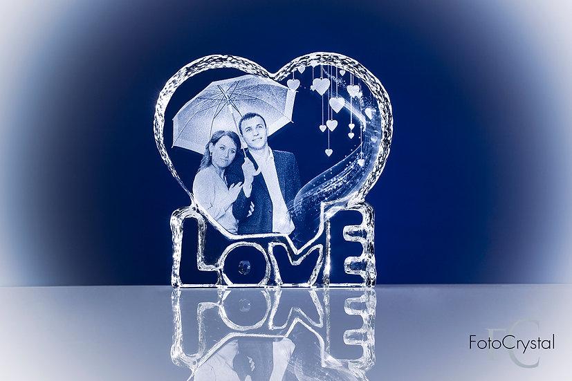 """Сердце """"Love"""" 145x140x25"""