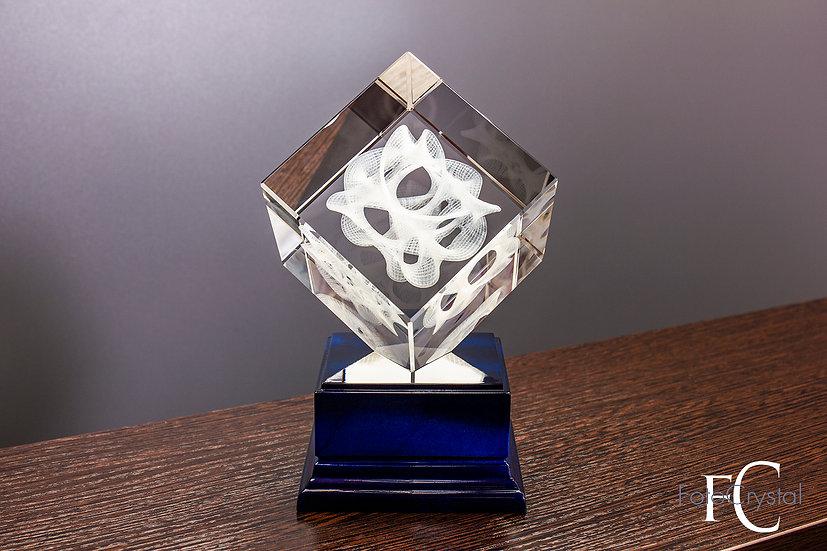 Куб на подставке с подсветкой