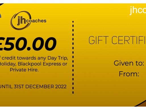 We offer Gift Vouchers! 🎁