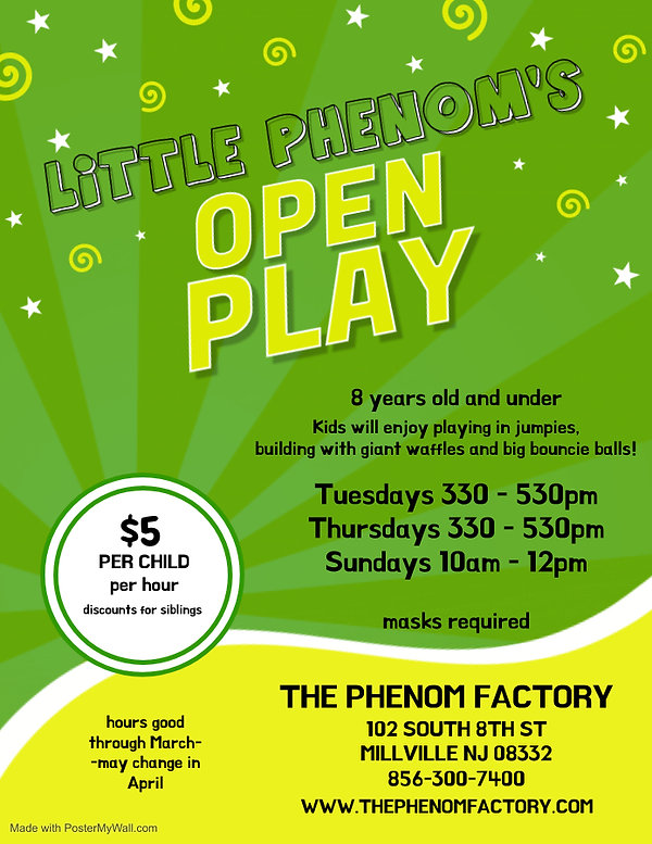 2021 march kids open play - Made with Po