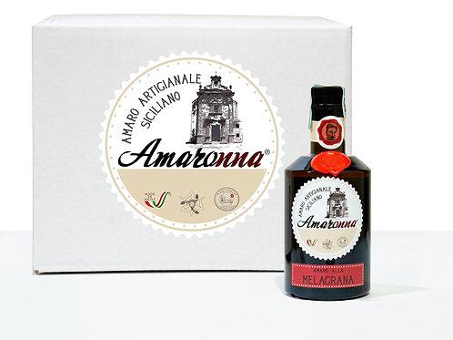 Cassa da 6 bottiglie di Amaronna alla Melagrana 50 cl 28 %