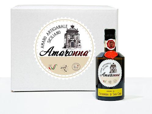 Cassa da 6 bottiglie di Amaronna al Ficodindia di San Cono 50 cl 28 %