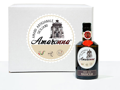 Cassa da 6 bottiglie di Amaronna alla Maracuja 50 cl 28 %