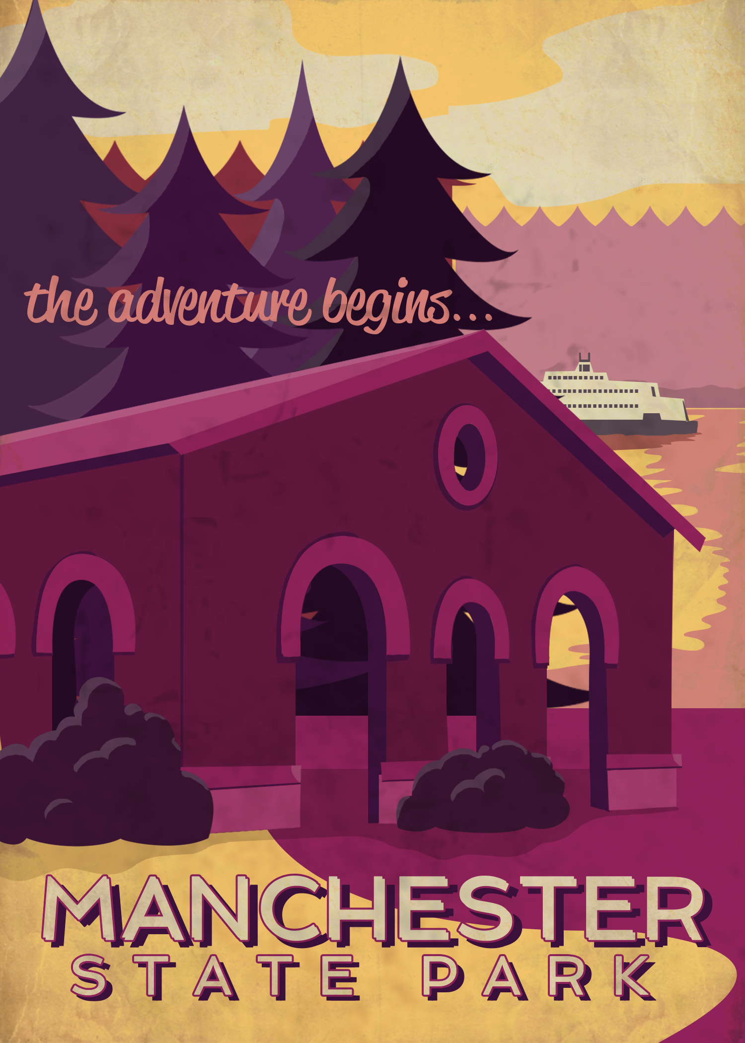 Manchester State Park Poster