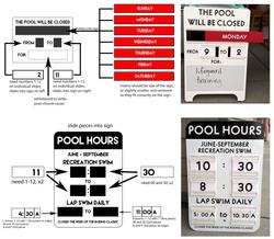 Pool Signs - mockup & final