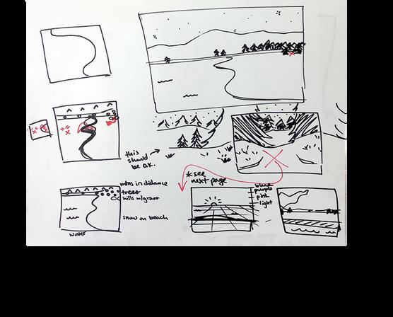 Rough background concepts
