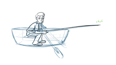 Ben in the boat