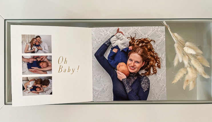 Erlesene Fotoprodukte wie Fotobuch Holzb
