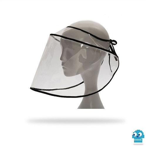 飛沫感染防止の帽子カバー