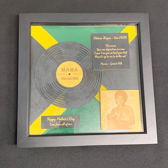 Mother's Day Vinyl Inspired Plaque - Personalised Framed Art