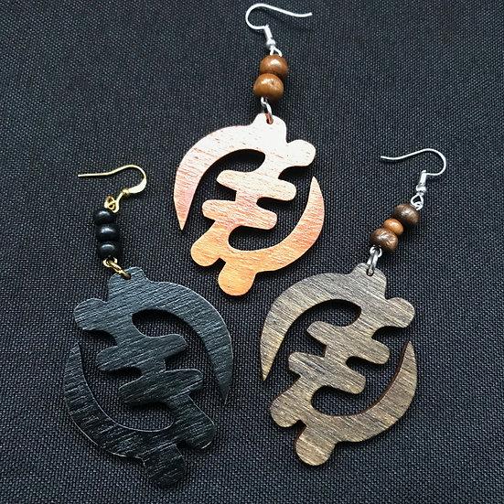 Gye nyame earrings - www.venusisland.co.uk