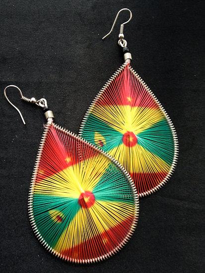 Grenada Flag Earrings - www.venusisland.co.uk