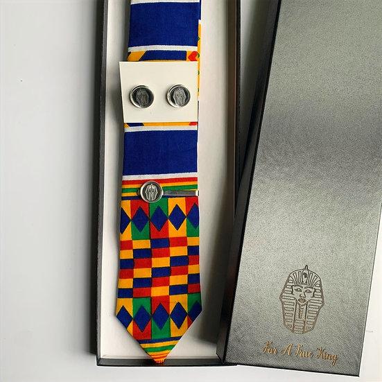 African Print Tie & Cufflink Set