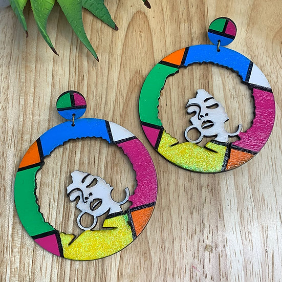 Retro Afrocentric Earrings