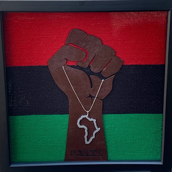 Black Power Fist: Unity - Framed Art