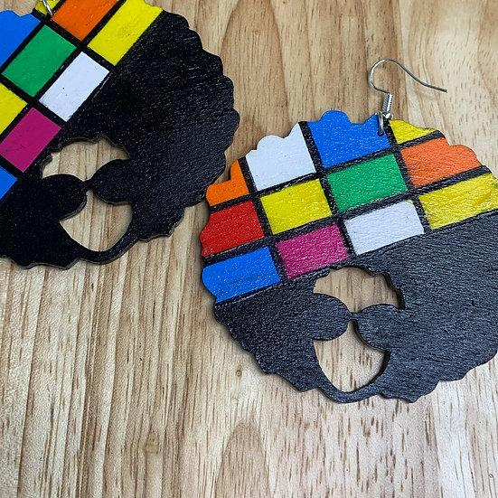 Afro Disco Earrings
