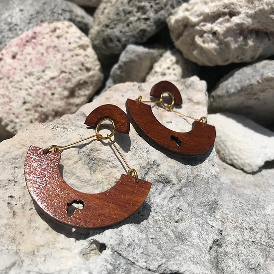 Curve Africa Earrings