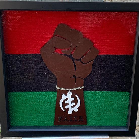 Black Power Fist: Faith - Framed Art