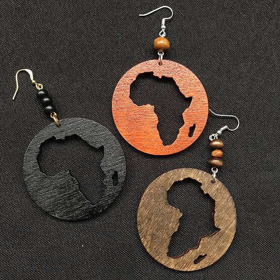 Africa circle earrings - www.venusisland.co.uk