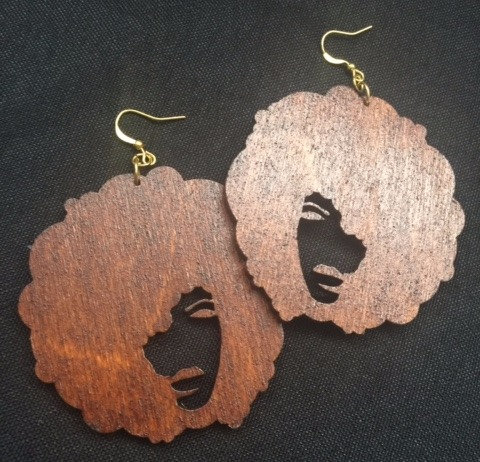 Abstract afro earrings - www.venusisland.co.uk