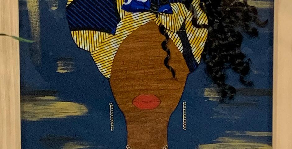 Sister Blue - Framed Art