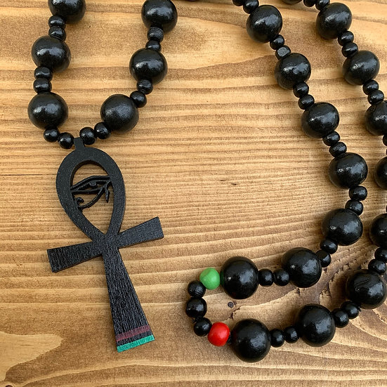 Life Protect - Ankh Horus Beaded Chain