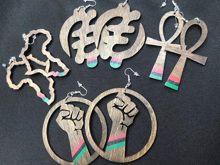Pan Africa inspired earrings - www.venusisland.co.uk