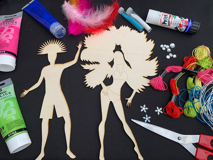 Craft hour: Carnival Masqueraders