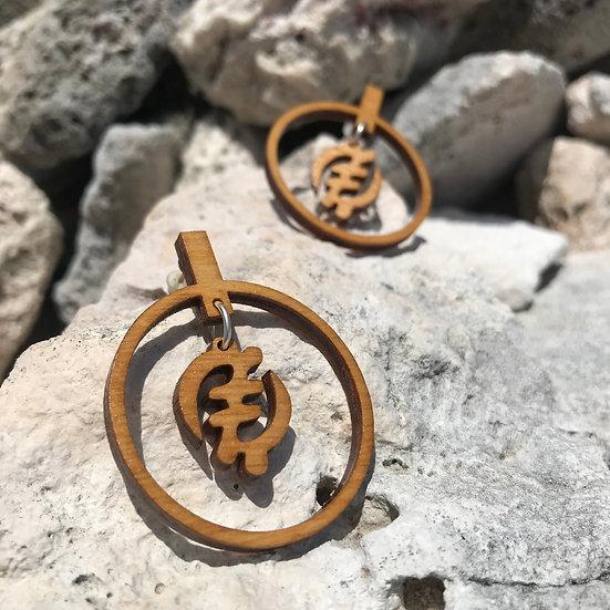 Solar Gye Nyame Earrings