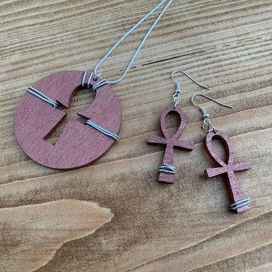 Life - Earrings & Chain Set