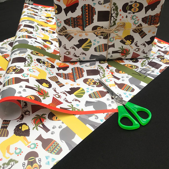 African inspired wrapping paper - www.venusisland.co.uk