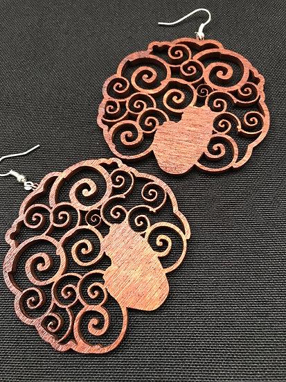 Afro swirl earrings - www.venusisland.co.uk