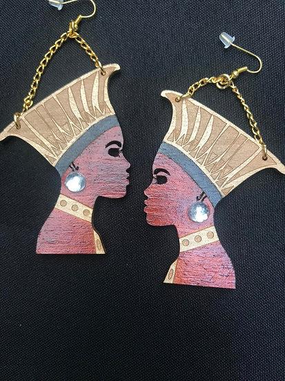 Ramonda black panther inspired earrings - www.venusisland.co.uk