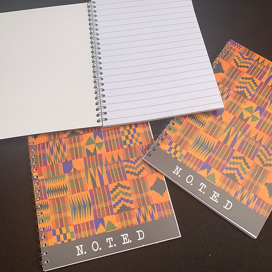 Kente Print A5 Notebook