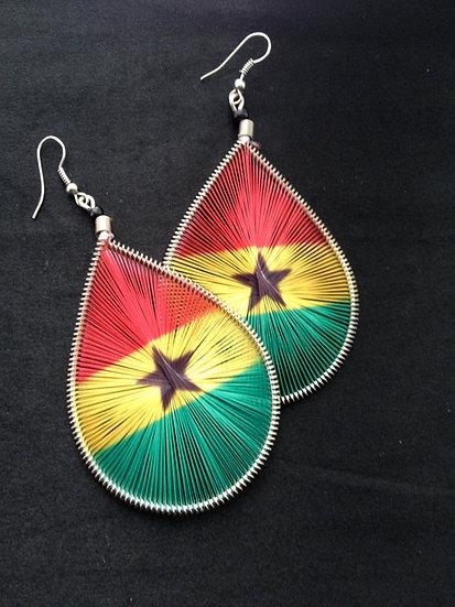 Ghana Flag Earrings - www.venusisland.co.uk