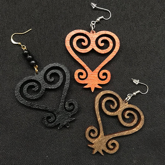 Sankofa earrings - www.venusisland.co.uk