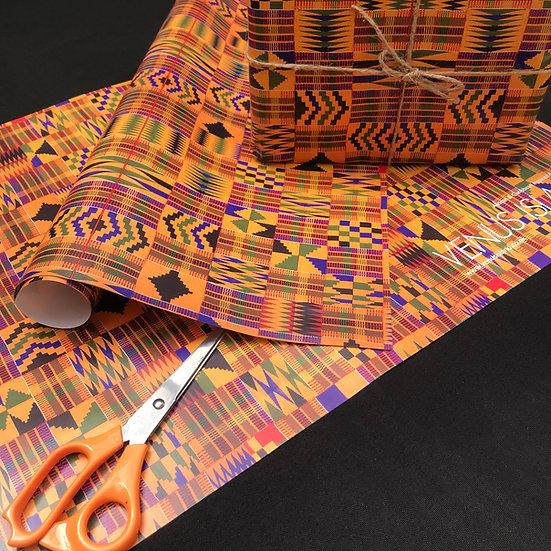 Kente Print Wrapping paper  - www.venusisland.co.uk
