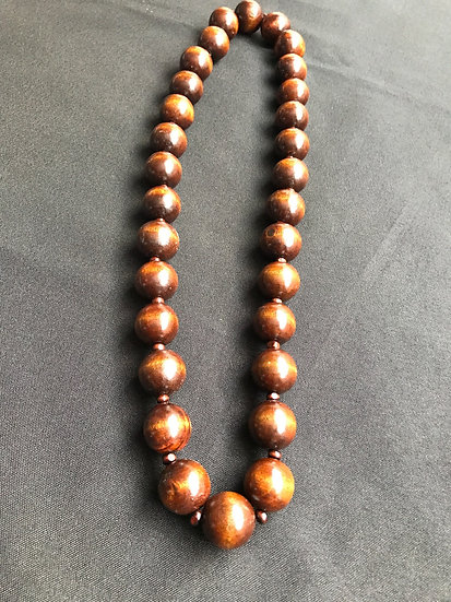 Big Beaded Chain - Chocolate Brown