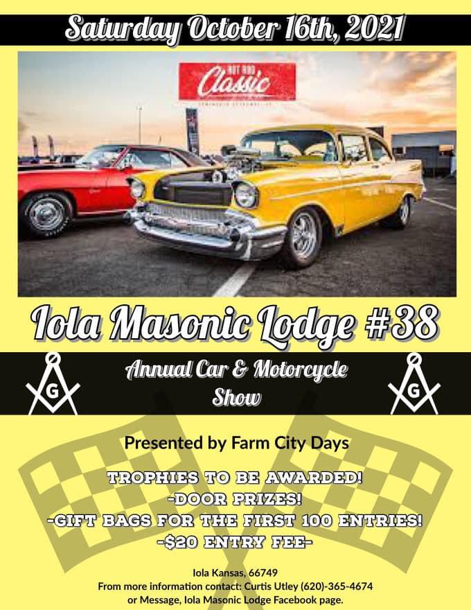 2021 Iola Masonic Lodge #38 Annual Car S
