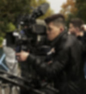 Darius filming on the set of Secret Chil